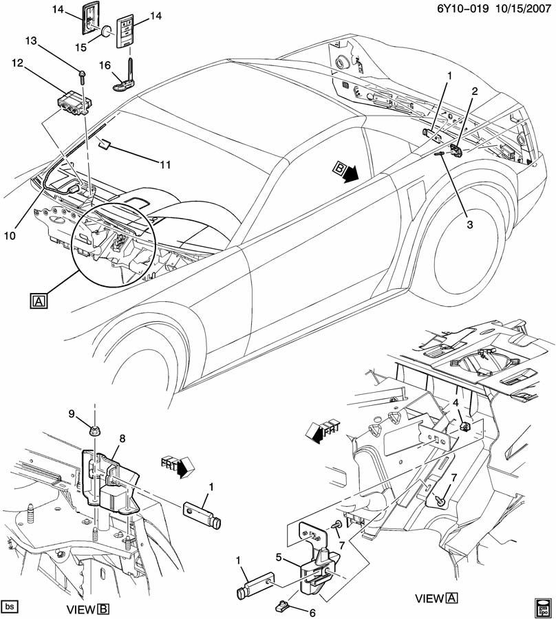 2008-2009 European Corvette C6 & XLR Keyless Entry