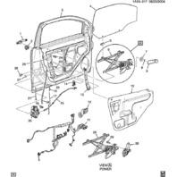 2006-2010 Chevrolet Pontiac Manual Window Crank Handle