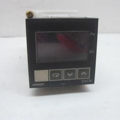 Omron Temperature Controller Wiring Diagram Defy Stove E5cn R2p Ebay