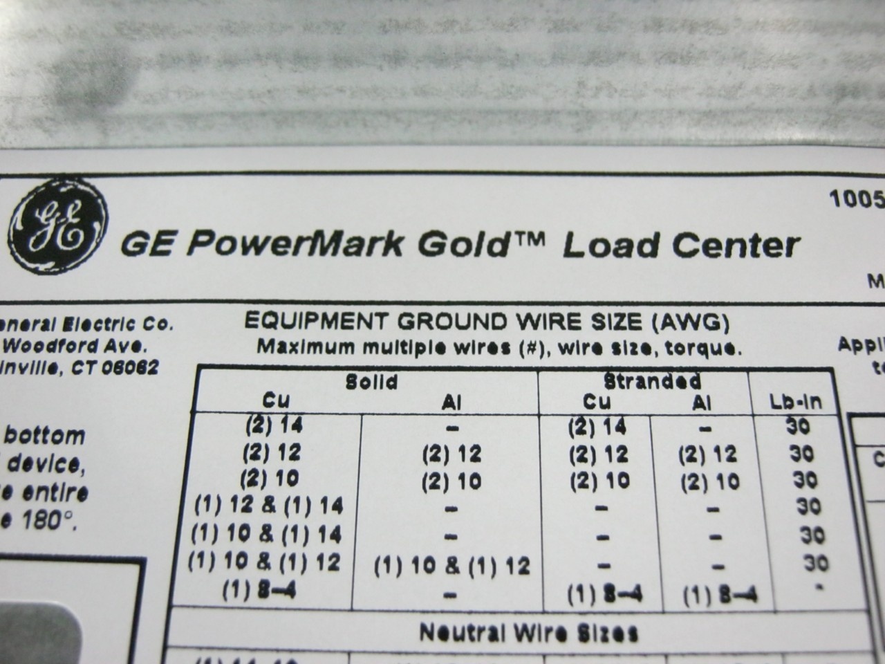ge powermark gold load center wiring diagram for club car golf cart