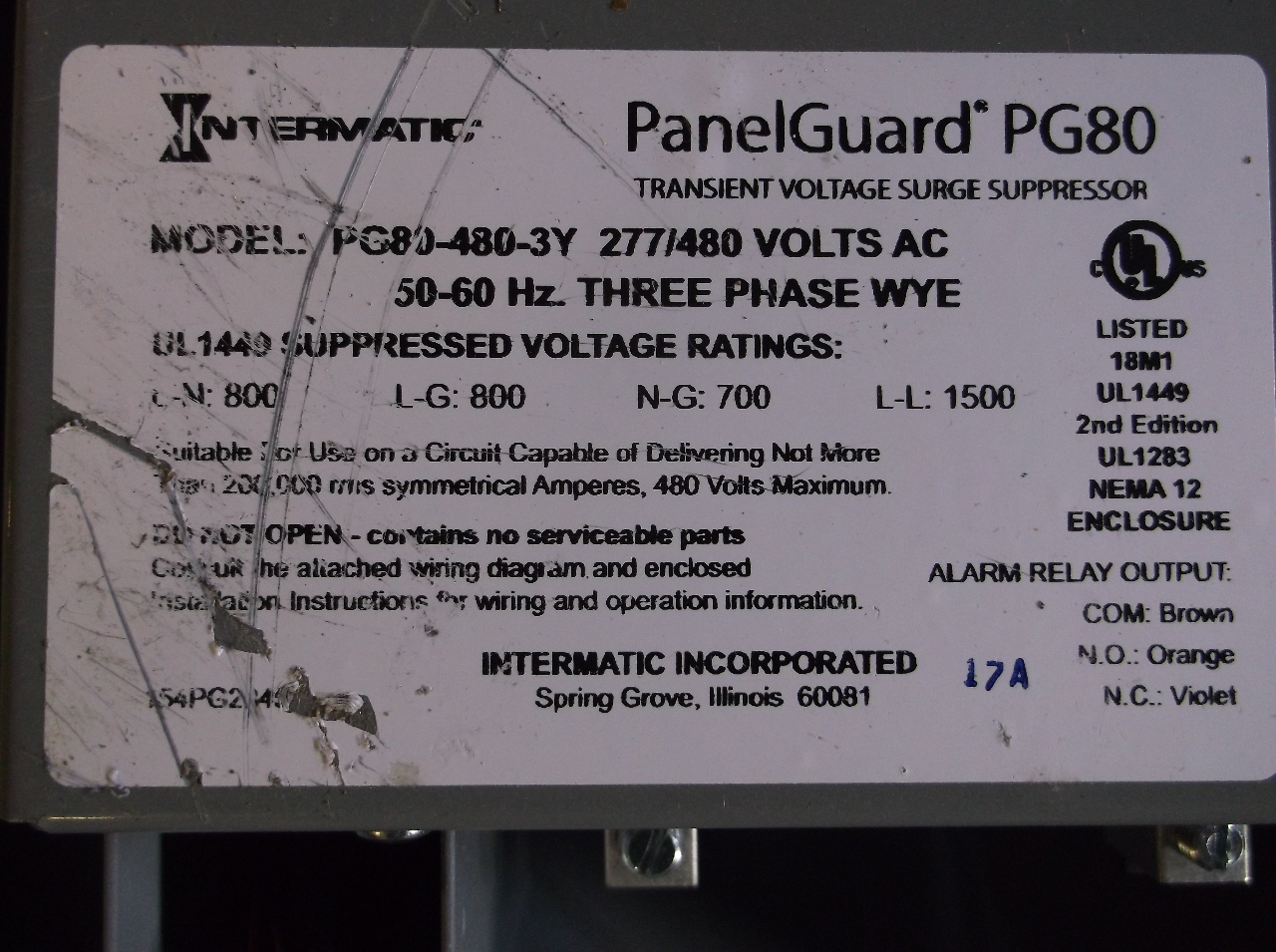 Wiring Diagram For 480v Panel