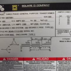Square D Isolation Transformer Wiring Diagram 1998 Honda Civic Headlight 480 75 Kva Ibanez