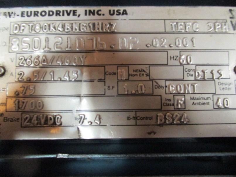 Sew Eurodrive Motor Nameplate Details
