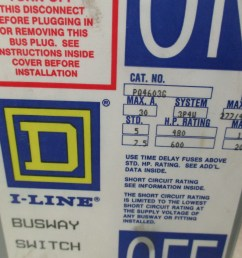 square d pqg amp volt bus plug pole wire 30 amp 600 volt bus plug 3 [ 1280 x 960 Pixel ]