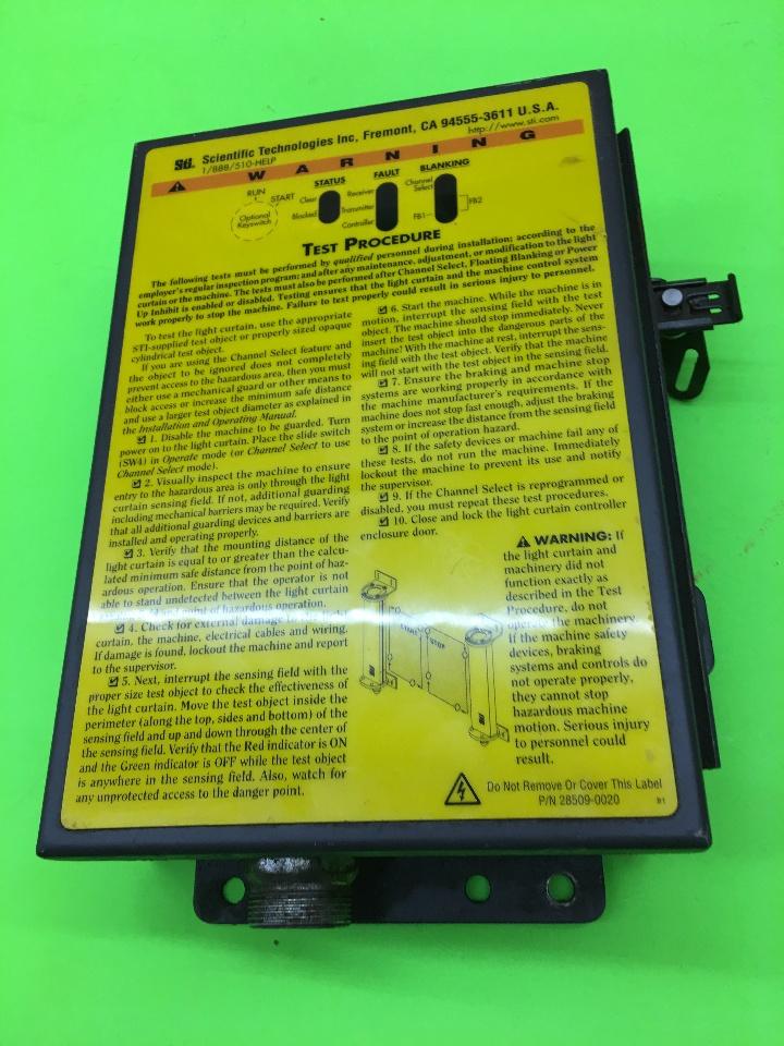 sti 28509 0020 safety light curtain