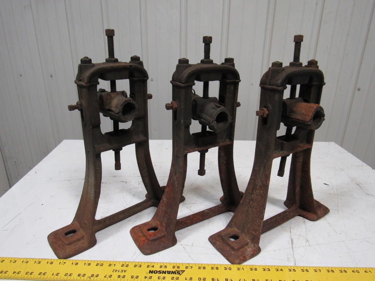 Vintage Steampunk Industrial Machine Cast Iron Line Shaft