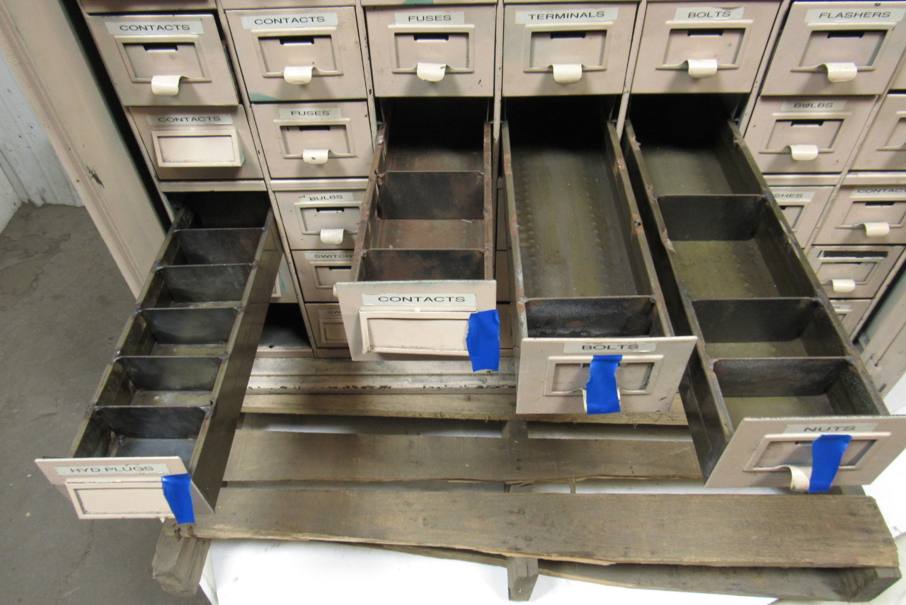 48 Drawer Vintage Industrial Steel Small Parts Storage