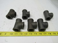 "3/4""npt Black Malleable Iron Pipe TEE Fitting"