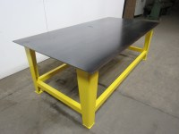 "Steel Welding Work Bench Assembly Layout Table 96"" x 48"" 3 ..."