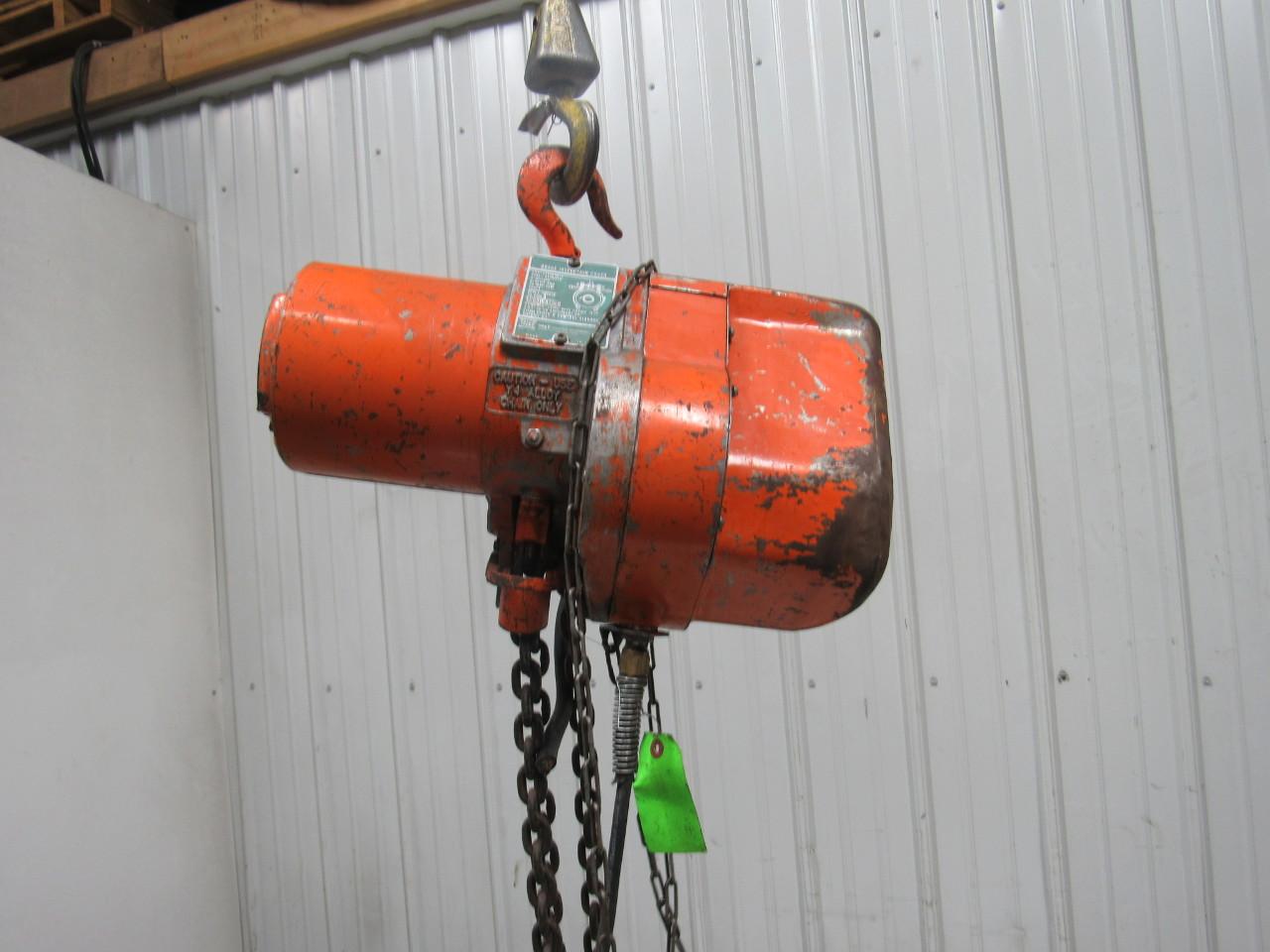 hight resolution of yale pl253fmpgn midget king electric chain hoist 1000lb ebay mile marker winch yale electric forklift