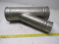 """HVAC Duct Y Branch Off Fitting Dust Collector 6""""x6""""x4 ..."""