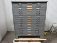 Hamilton Industrial Filing Cabinet Blueprint Map Tool ...