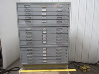 Flat File Blueprint Plans Map Art Architect Filing Cabinet ...