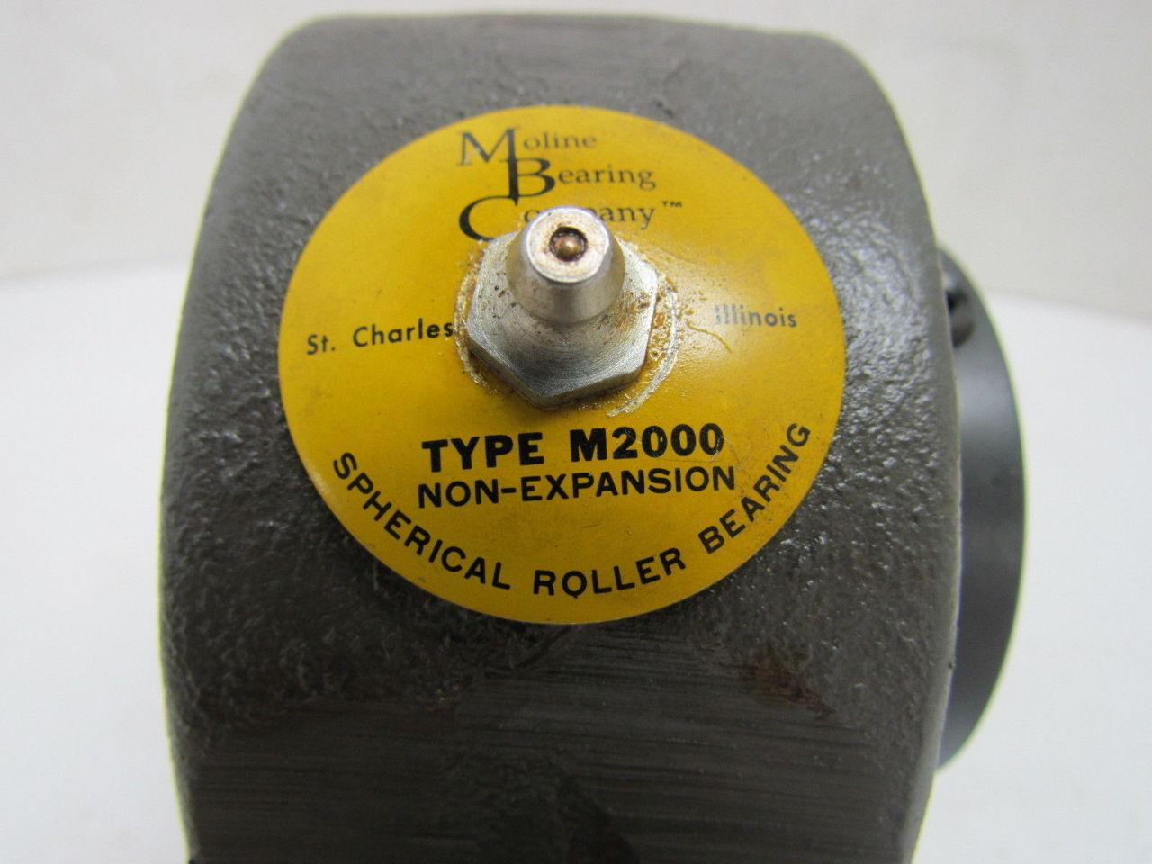 Moline M2000 Pillow Block Bearing 11516quot ID NEW