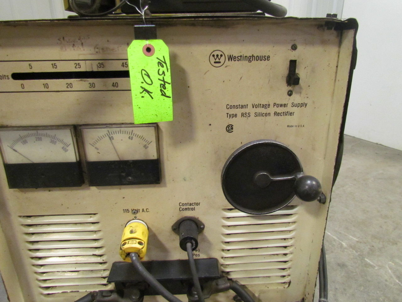 Westinghouse RSS 250 A Amp Welder W/Hobart 2210 Wire