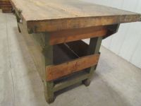 Vintage Industrial Butcher Block Workbench Table wooden ...