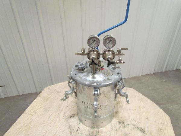Binks 5 Gallon Standard Pressure Tank Withagitator