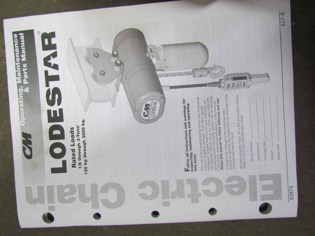 hight resolution of cm lodestar hoist wiring diagram cm image wiring cm lodestar j new 1 2 ton electric