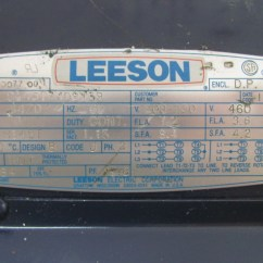 Leeson Electric Wiring Diagram 4 Prong Night Vision C145t34db13b 3ph Ac Motor 3hp 3450 Rpm 208