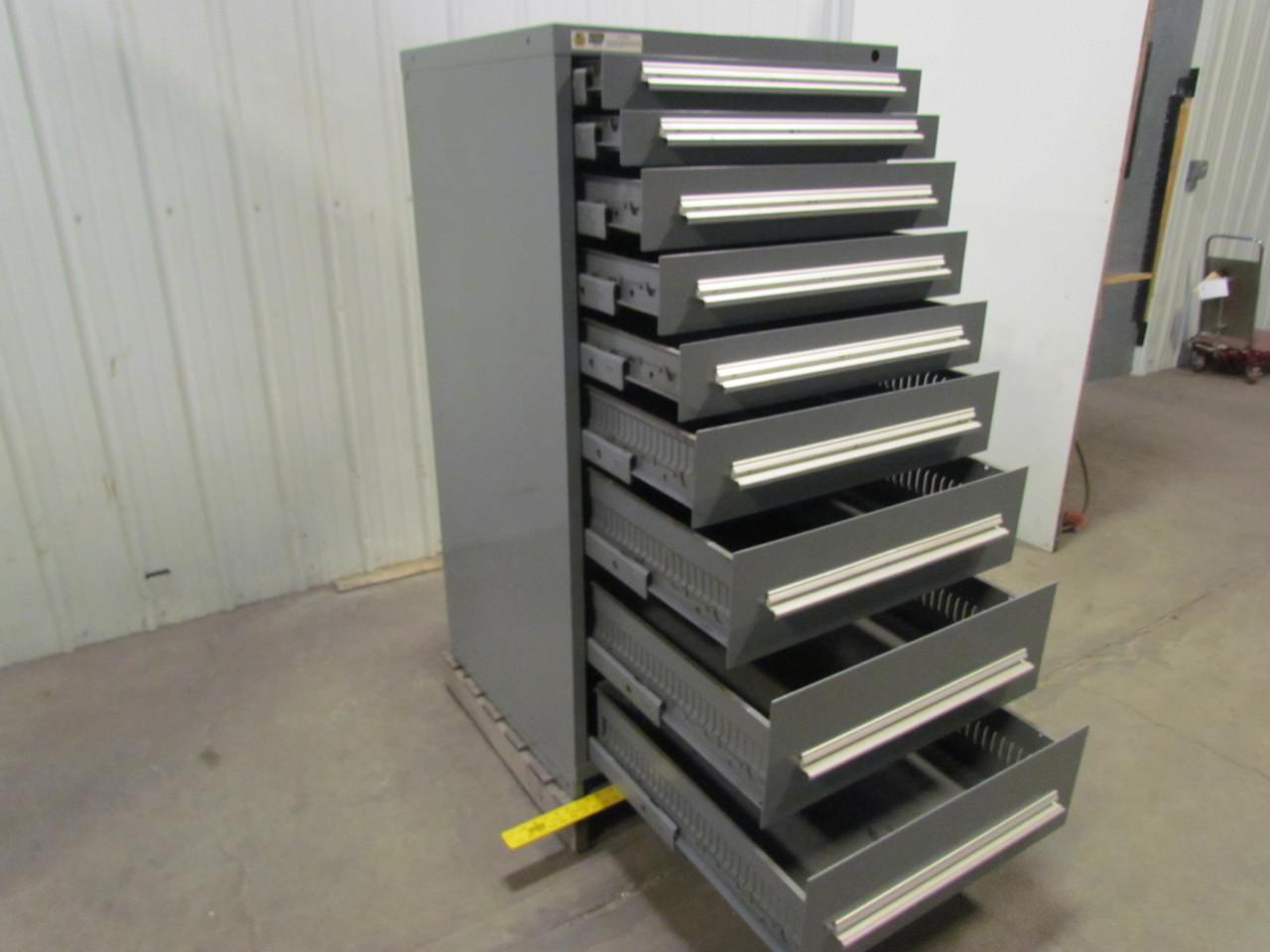 Stanley Vidmar 9Drawer Industrial Parts Tool Storage Shop