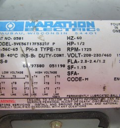 marathon electric g581 1 2 hp motor 3ph multivolt 1725rpm [ 1280 x 960 Pixel ]