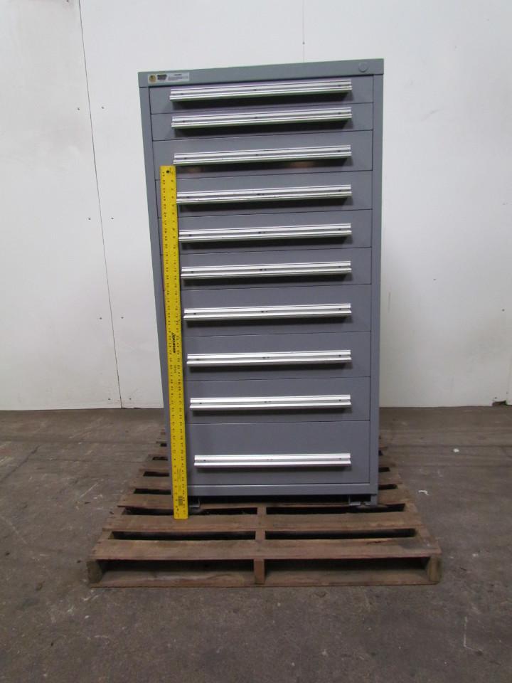 Vidmar Stanley 10 Drawer Steel Industrial Tool Parts