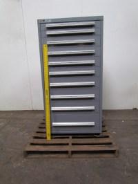 Vidmar Stanley 10 Drawer Steel Industrial Tool Parts ...