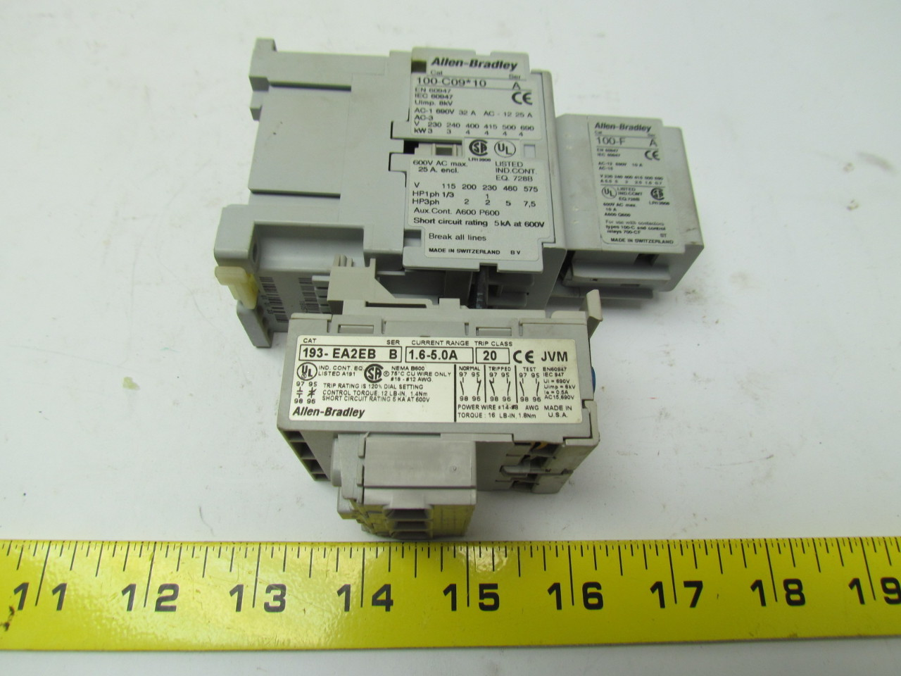 contactor and overload wiring diagram single phase boat water system allen bradley 100 c09 10 3 pole w 193 ea2eb