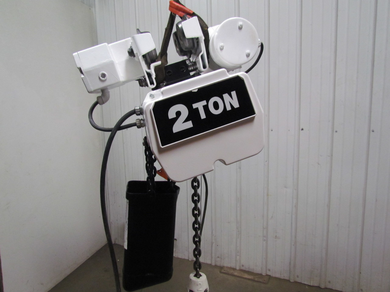 hight resolution of coffing ec4016 3 2 ton electric chain hoist power trolley 16fpm 230 460v 3ph