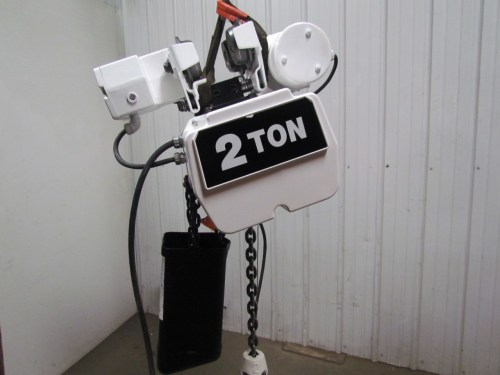 small resolution of coffing ec4016 3 2 ton electric chain hoist power trolley 16fpm 230 460v 3ph