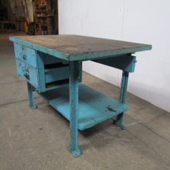 Industrial Kitchen Table Design For Small Space Butcher Block Workbench Island 48