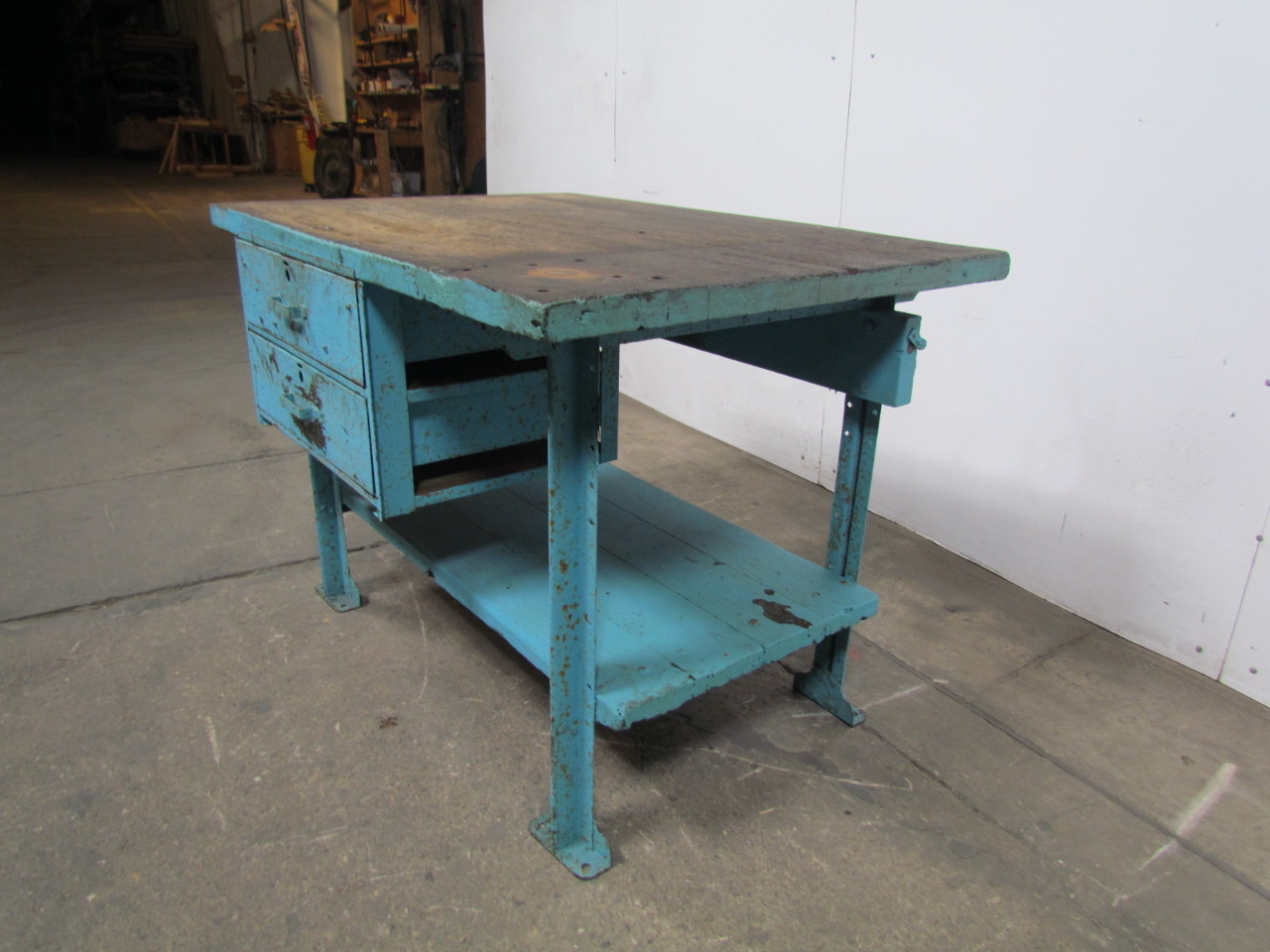 industrial kitchen table touch free faucet butcher block workbench island 48