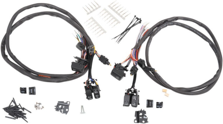 Drag Specialites LED black control switch kit 07-13 Harley