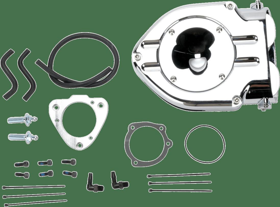 Kuryakyn 9767 Chrome Hypercharger Air Cleaner Filter 08-17