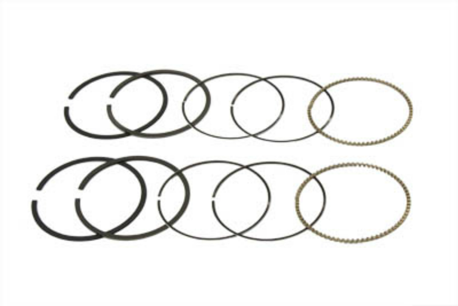 Vtwin 1200cc Hastings Moly Standard Piston Ring Set 04-16