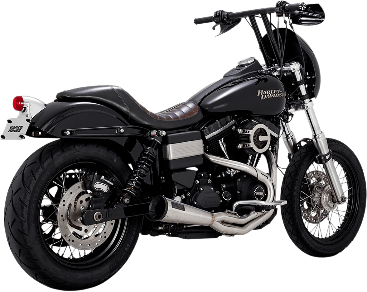vance hines stainless steel upsweep exhaust for 91 17 harley dyna fxdl fxdb jt s cycles