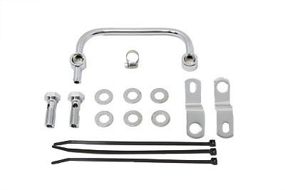Vtwin chrome carburetor breather manifold kit harley