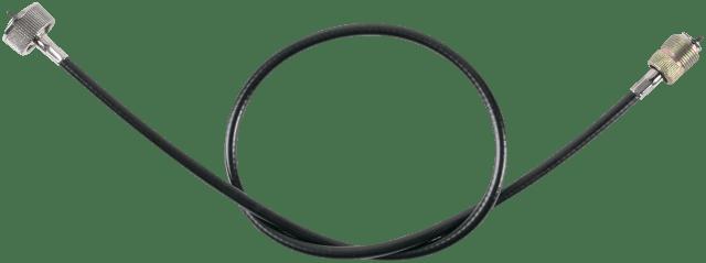 Drag specialties black vinyl speedo cable 44.5