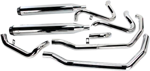 Bassani Chrome True Dual Down Under Exhaust for 09-16