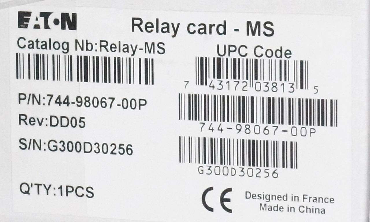 Eaton Relay Card 744 00p New