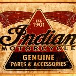 Collectables Memorabilia Home Decor Or Man Cave Americana Quality Indian Motorcycle Metal Sign Genuss Ng