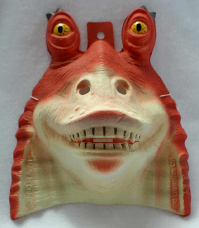 Star Wars Jar Jar Binks Halloween Mask Rubies PVC Comic