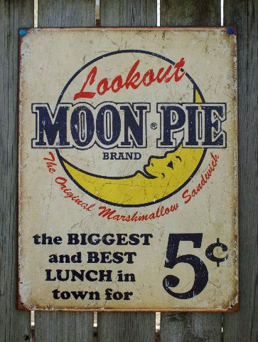 Lookout Moon Pie Ad Tin Sign Garage Vintage Style Home Country Kitchen Decor F15