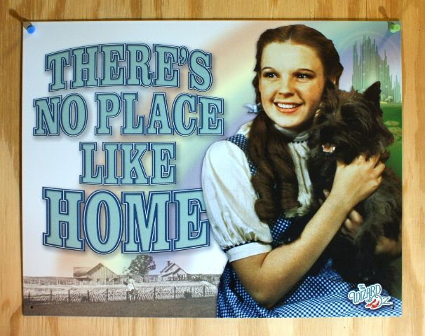 Wizard Of Oz No Place Like Home Tin Sign Movie Poster