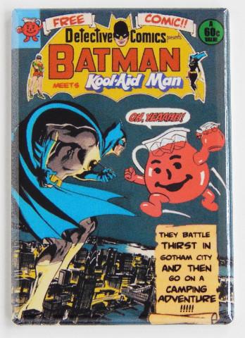 Batman Kool Aid Man Refrigerator Fridge Magnet Detective