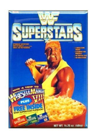 WWF Superstars Cereal Refrigerator Fridge Magnet Wrestling