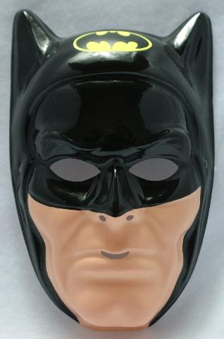 Vintage DC Comics Batman Ben Cooper Halloween Mask Comic Book Hero Joker Y048
