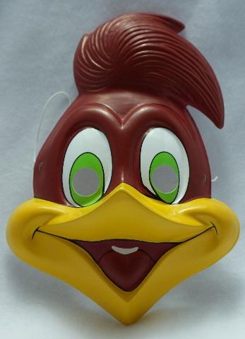 Vintage Woody Woodpecker Halloween Mask Rubies Costume Mel