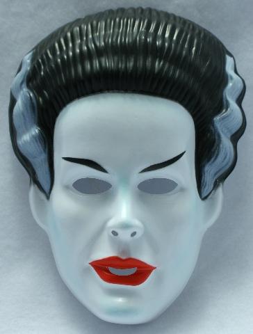 Vintage The Bride Of Frankenstein Halloween Mask Rubies