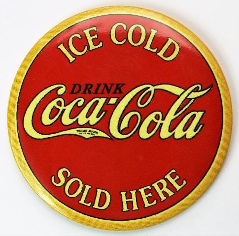 Ice Cold Coca Cola Sold Here FRIDGE MAGNET Coke Soda Pop